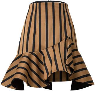 Schumacher Dorothee Asymmetrical Striped Mini Skirt