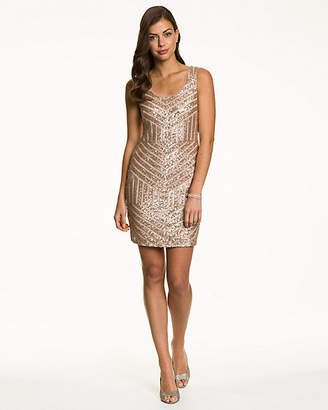 Le Château Beaded Shift Dress