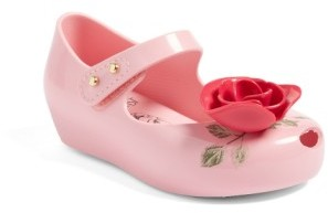 Toddler Girl's Mini Melissa Ultragirl Beauty & The Beast Mary Jane Flat $64.95 thestylecure.com