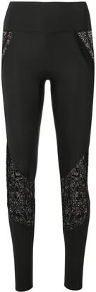 Kiki de Montparnasse lace-trimmed leggings