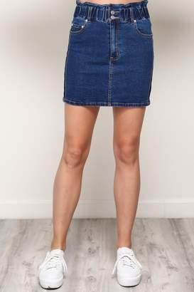 Mustard Seed Elastic Waist Skirt
