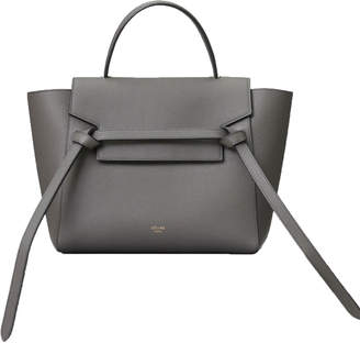 Celine Top Handle Belt Bag Grained Micro Grey