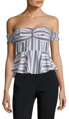 LIKELY Camellia Off-The-Shoulder Smocked Top