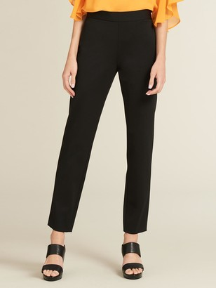 DKNY Ponte Straight Leg Pant With Side Zip