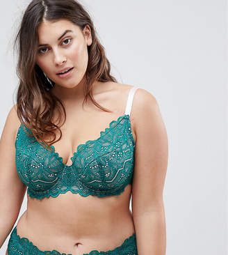 175111e1029e8 at ASOS Asos Amelia Paisley Lace Padded Underwire Bra