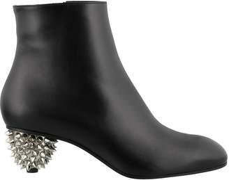 Alexander McQueen Studded Heel Ankle Boots