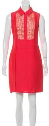 Derek Lam Lace-Trimmed Mini Dress Coral Lace-Trimmed Mini Dress