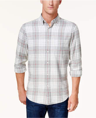 Club Room Men's Flannel Shirt, Created for Macy's