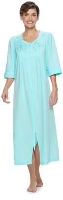 Miss Elaine Women s Essentials Long Seersucker Zip Robe ed5911bcd