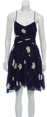 Band Of Outsiders Silk-Blend Floral Dress