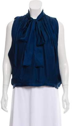 Robert Rodriguez Silk Cold-Shoulder Top