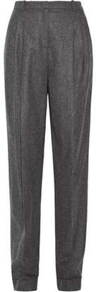Michael Kors Pleated Wool And Cashmere-Blend Tapered Pants