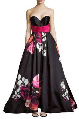 Mac Duggal Floral Sweetheart Dress
