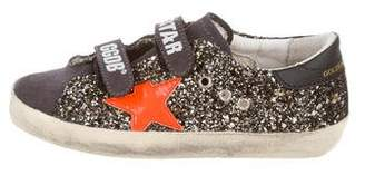 Golden Goose Girls' Embellished Suede Sneakers w/ Tags