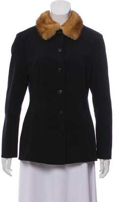 Dolce & Gabbana Fur-Trimmed Lightweight Jacket