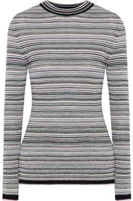 MiH Jeans Moonie Striped Merino Wool-Blend Sweater