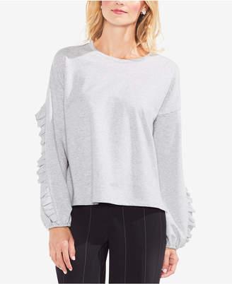 Vince Camuto Ruffled-Sleeve Sweater