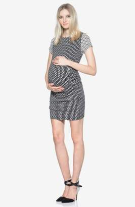 Tart Maternity 'Leilah' Body-Con Print Maternity Dress
