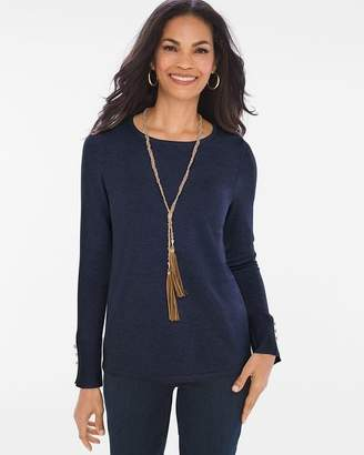 Chico's Button-Detail Pullover