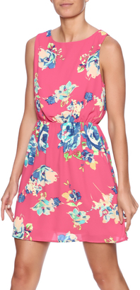 Everly Pink Floral Dress $56 thestylecure.com