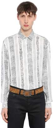 Saint Laurent Arabesque Printed Viscose Shirt