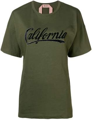 No.21 California short-sleeve T-shirt