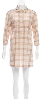 Joie Plaid Mini Dress