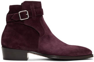 Paul Smith Burgundy Denza Buckle Boots