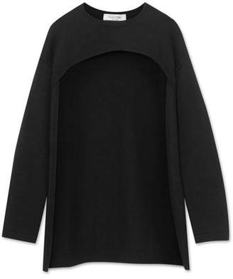 Valentino Cutout Cashmere Sweater - Black