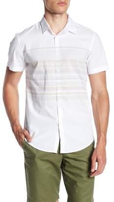 Calvin Klein Short Sleeve Horizontal Stripe Print Shirt