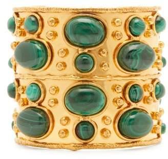 Sylvia Toledano - Malachite Embellished Cuff Bracelet - Womens - Green