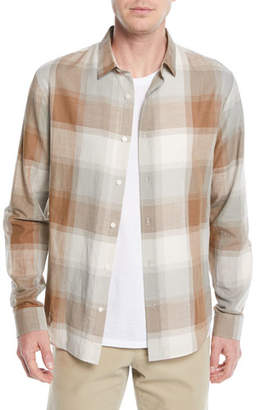 Vince Men's Vintage Wool/Cashmere Plaid Sport Shirt
