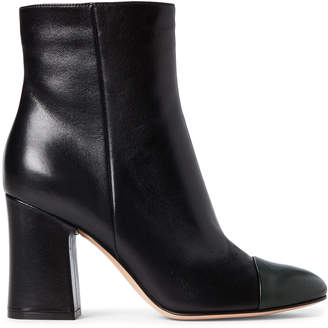 Gianvito Rossi Black & Forest Leather Booties