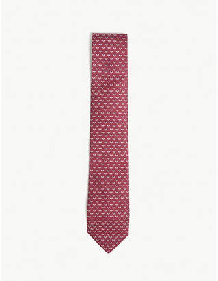 Salvatore Ferragamo Bee print silk tie