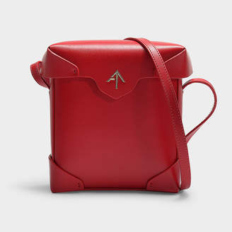 Atelier Manu Mini Pristine Bag In Marlboro Red Vegetable Tanned Calf Leather