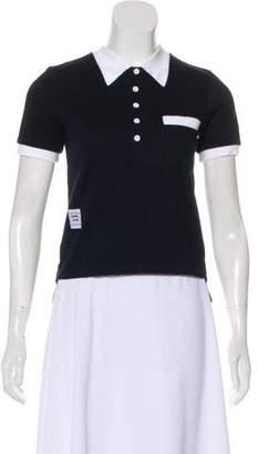 Thom Browne Short Sleeve Polo T-shirt