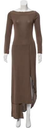 Herve Leger Asymmetrical Maxi Dress