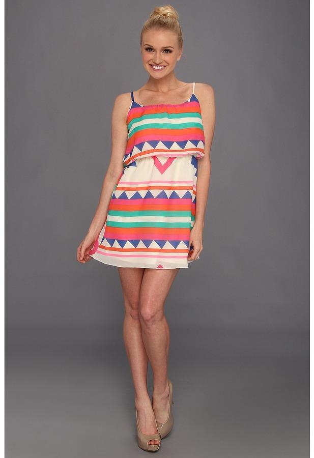 Gabriella Rocha Kiegan Dress (Pink Multi) - Apparel