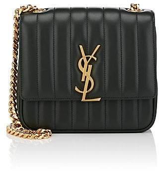 Saint Laurent Women's Monogram Vicky Medium Leather Chain Bag