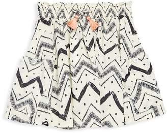 Jessica Simpson Little Girl's Printed Tassel Skirt