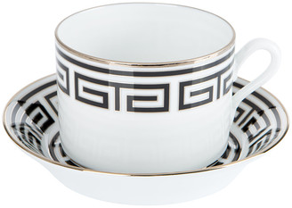 Richard Ginori 1735 - Labirinto Teacup & Saucer - Nero
