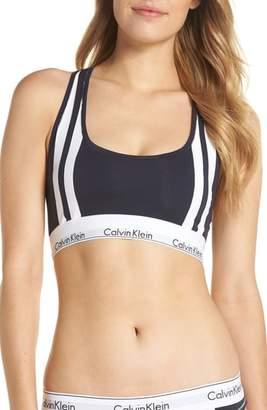 Calvin Klein Modern Cotton Blend Stripe Bralette