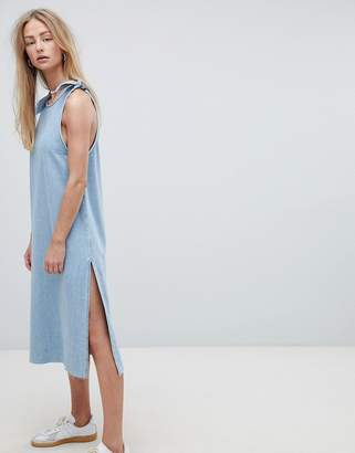 Dr. Denim Maxi Denim Dress With Tie Detail