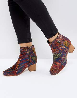 H By Hudson Garnett Liberty Velvet Mid Ankle Boot