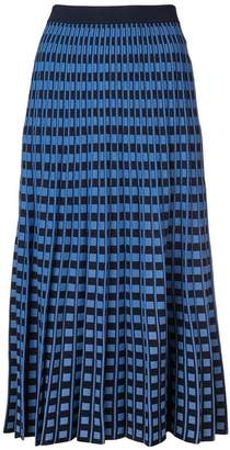 Derek Lam 10 Crosby Pleated Check Skirt