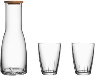 Kosta Boda Bruk Glass Carafe & Tumblers (Set of 3)