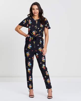 Oasis Burley Floral Print Jumpsuit