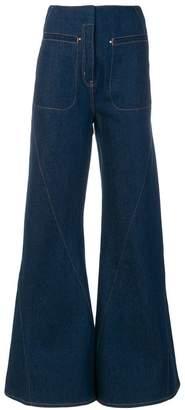Esteban Cortazar flared high-waisted jeans