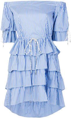 Christian Pellizzari frilled strapless dress