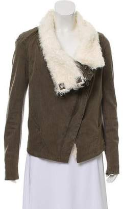 Helmut Lang Cropped Shearling Jacket